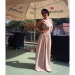 Rochie eleganta din voal cu taiere speciala !New! Acum pe roz pal