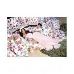 Rochie eleganta cu umerii goi voal roz deschis