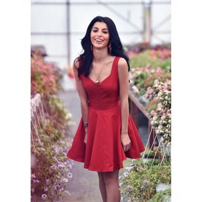Rochie eleganta scurta cu spatele gol rosie