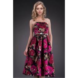 Rochie eleganta cu fusta clos si imprimeu special floral
