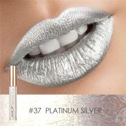 Ruj lichid metalic waterproof focallure cu nuanta intensa rezistenta la transfer #37 Platinum Silver